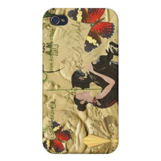 Vintage Paris Tango post card iPhone 4 Covers
