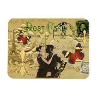 Vintage Paris Tango post card Rectangular Photo Magnet