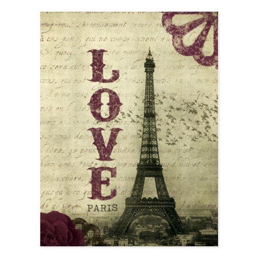 Vintage París Postal