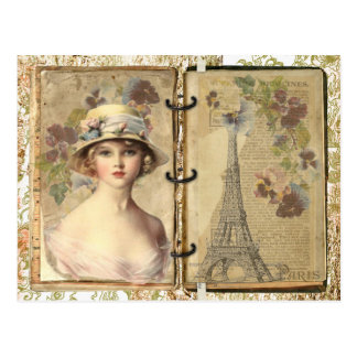 Vintage París Tarjeta Postal