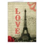 Vintage París Tarjeton