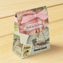 Vintage Paris Themed Wedding Party Personalized Favor Box