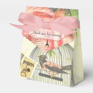 Vintage Paris Themed Wedding Party Personalized Favor Box