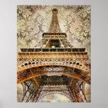 Vintage París, torre Eiffel Posters