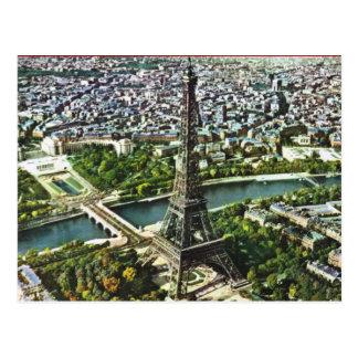 Vintage París, torre Eiffel Tarjeta Postal