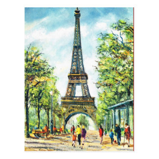 Vintage París, torre Eiffel Tarjetas Postales