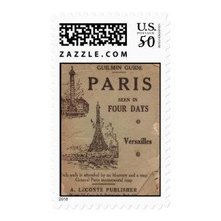 Vintage Paris Travel Brouchure Postage Stamp