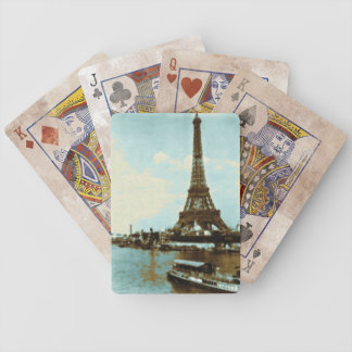 Vintage Paris Water Color Bicycle Playing Cards