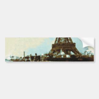 Vintage Paris Water Color Bumper Sticker