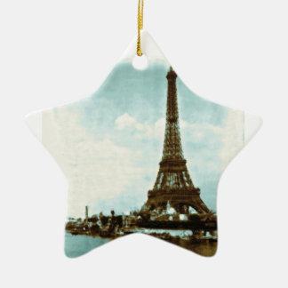 Vintage Paris Water Color Christmas Ornaments