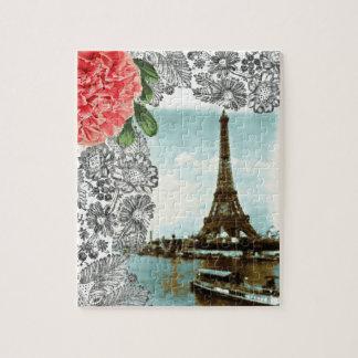 Vintage Paris Water Color Jigsaw Puzzle