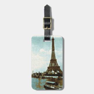 Vintage Paris Water Color Luggage Tag
