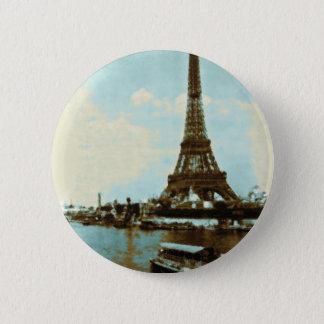 Vintage Paris Water Color Pinback Button