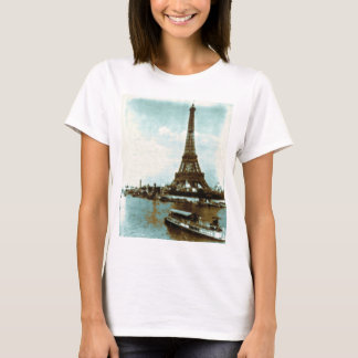 Vintage Paris Water Color T-Shirt