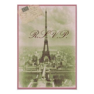 Vintage Paris Wedding 3.5x5 Paper Invitation Card