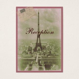 Vintage Paris Wedding Business Card