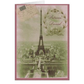Vintage Paris Wedding Card