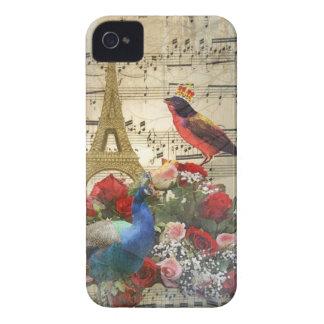 Vintage París y collage de la hoja de música de Case-Mate iPhone 4 Protector