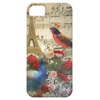 Vintage París y collage de la hoja de música de iPhone 5 Fundas