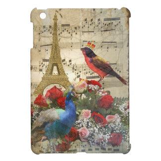Vintage París y collage de la hoja de música del p iPad Mini Protectores