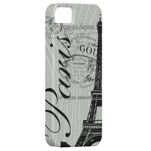 Vintage París y torre Eiffel Funda Para iPhone SE/5/5s