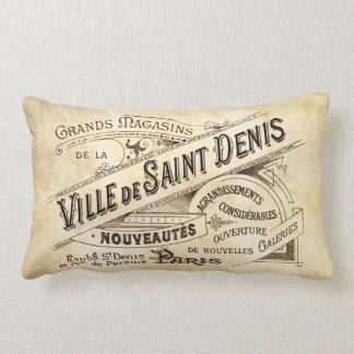 Vintage Parisian Advertising Villa Saint Throw Pillow