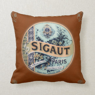 Vintage Parisian Candy Throw Pillow