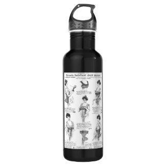 Vintage Parisian Corset Ad Stainless Steel Water Bottle