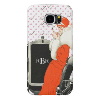 Vintage Parisian Fashion Image 1920's Flapper Samsung Galaxy S6 Case