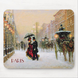 Vintage Parisian Style Christmas Gift Mousepads