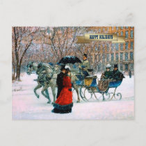 Vintage Parisian Style Christmas Postcards