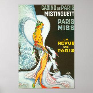 Vintage parisiense del francés del ZIG del cabaret Póster