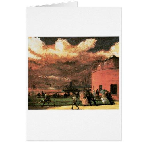 """Vintage """"parque de batería"""" circa 1902-1904 tarjeta de felicitación"""