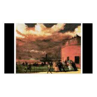 """Vintage """"parque de batería"""" circa 1902-1904 tarjetas de visita"""