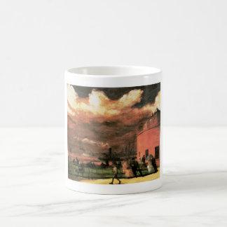"""Vintage """"parque de batería"""" circa 1902-1904 taza clásica"""