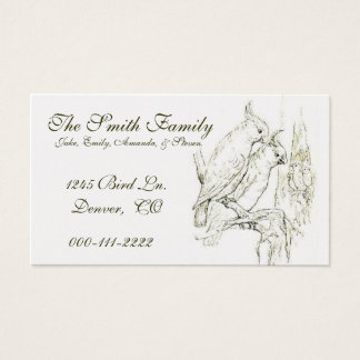 Vintage Parrot drawing Calling Card