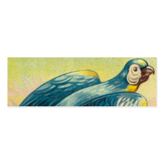 Vintage Parrot Print Double-Sided Mini Business Cards (Pack Of 20)