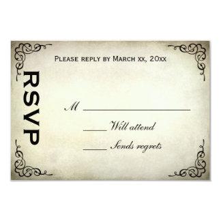 "Vintage Parrot Tulip Response Card 3.5"" X 5"" Invitation Card"