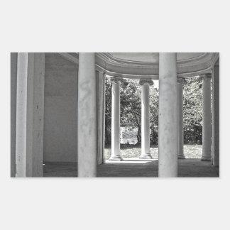 Vintage Parthenon Pillars Rectangular Sticker