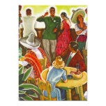 "Vintage Party Fun Fiesta Mexico Blank Invitation 5"" X 7"" Invitation Card"