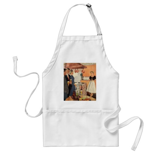 Vintage Party in the Kitchen, Beer and Appetizers Adult Apron