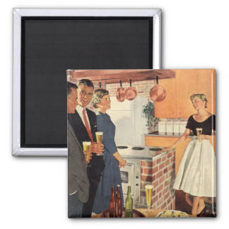 Vintage Party in the Kitchen, Beer and Appetizers Magnet