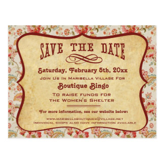 Vintage Party, Reunion or Event Save the Date Postcards