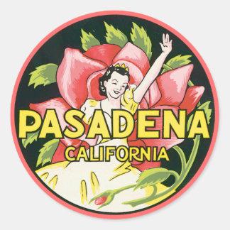 Vintage Pasadena California Sticker