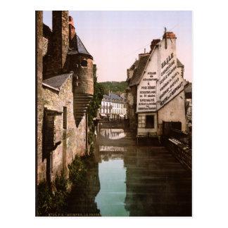 Vintage pasarela de Steir de Francia río Quimper