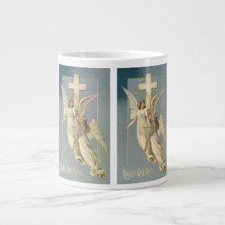 Vintage Pascua, ángeles del Victorian con una cruz Taza Grande