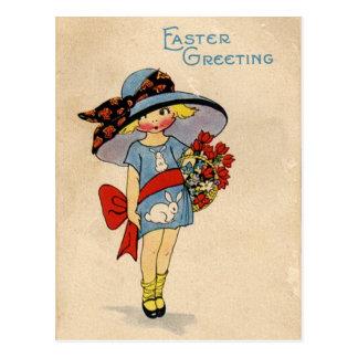 Vintage Pascua Cutie Tarjeta Postal