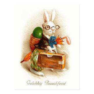 Vintage Pascua de Gelukkig Paaschfeest Postales