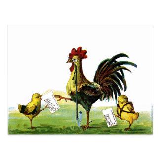 Vintage Pascua de la cachimba del gallo que fuma