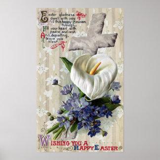 Vintage Pascua de la cala y de la cruz Impresiones
